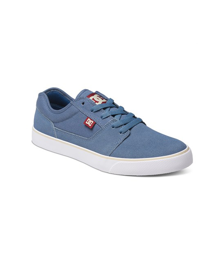 Skate Sneakers Blue Leather Canvas