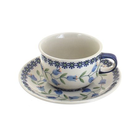 Polish Pottery Tulip Cup & (Cup & Saucer Holder)