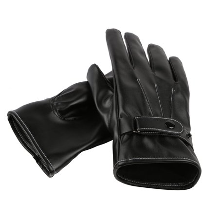 Men's Winter Touchscreen Synthetic Leather Gloves