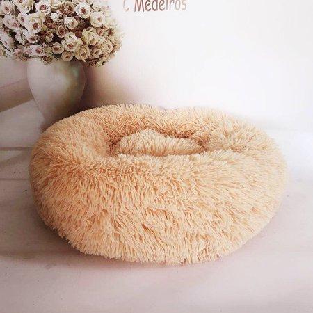 Winter Pet Nest Round Long Hair Kennel Cat Litter Comfortable Warm Pet Nest - image 5 of 7
