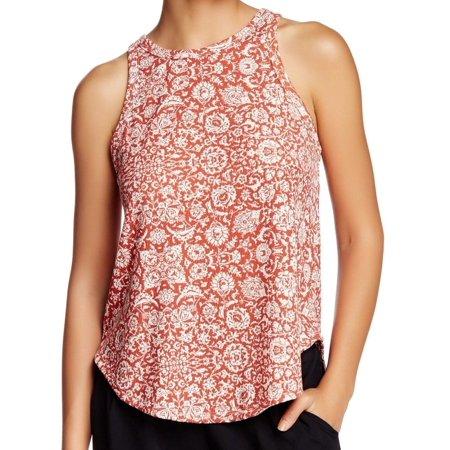 f3d3dfa85b2 Lush Cosmetics - Lush NEW Red Women s Size Small S Printed Ribbed Knit  Hi-Lo Tank Top 943 - Walmart.com