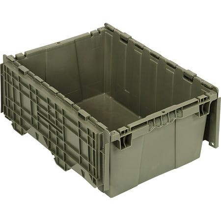 Quantum QDC2115-9 Plastic Storage Container with Attached Flip-Top Lid, 21