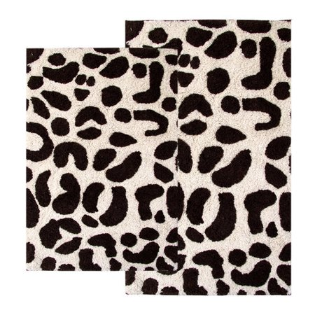 2 Piece Leopard Bath Rug Set 21 X 34 And 24