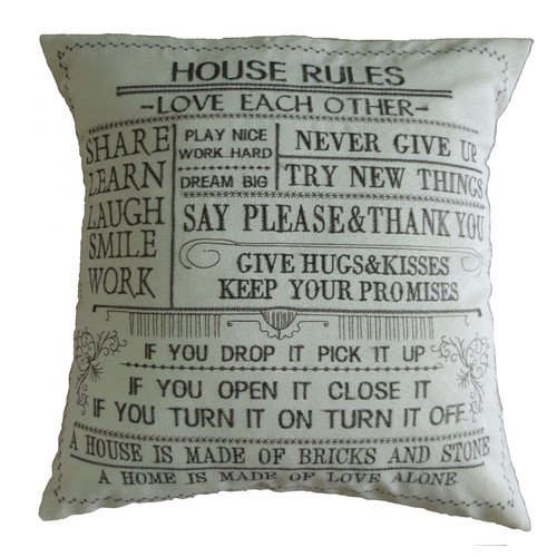 Winston Porter Lindy Decorative Embroidered Print Burlap Pillow Cover