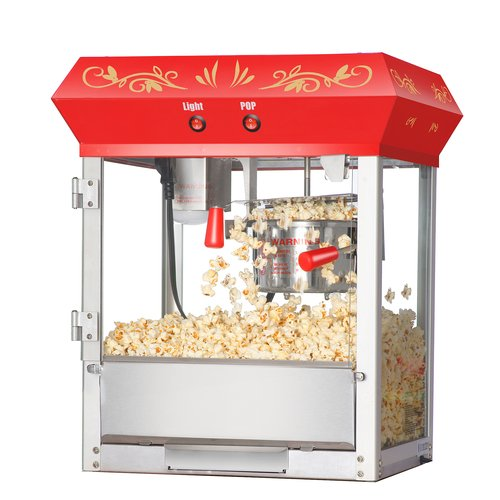 Great Northern Popcorn Red Foundation Top Popcorn Popper Machine, 4 Ounce