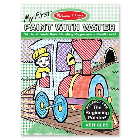 Melissa & Doug My First Paint with Water Coloring Book, Vehicles, 24  Painting Pages