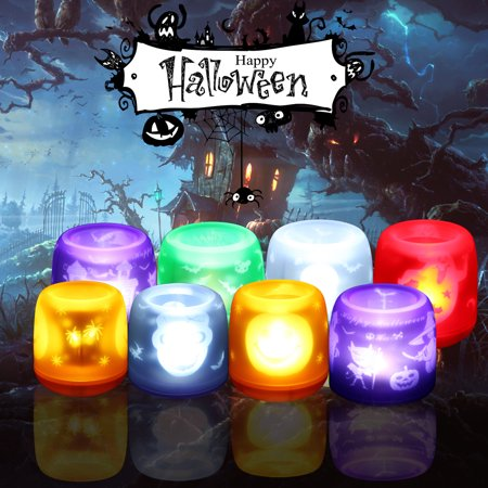 Halloween Flameless LED Electonic Projection Candle Light ghost Blowing & Action Activated Wind-proof Pet-safe and - Keeping Pets Safe On Halloween