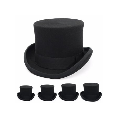 S-XL Size Unisex Adults Fashion Wool magic hat Victorian Top Hat Magic Performing Cap Costume Accessory - Top Hat Prop