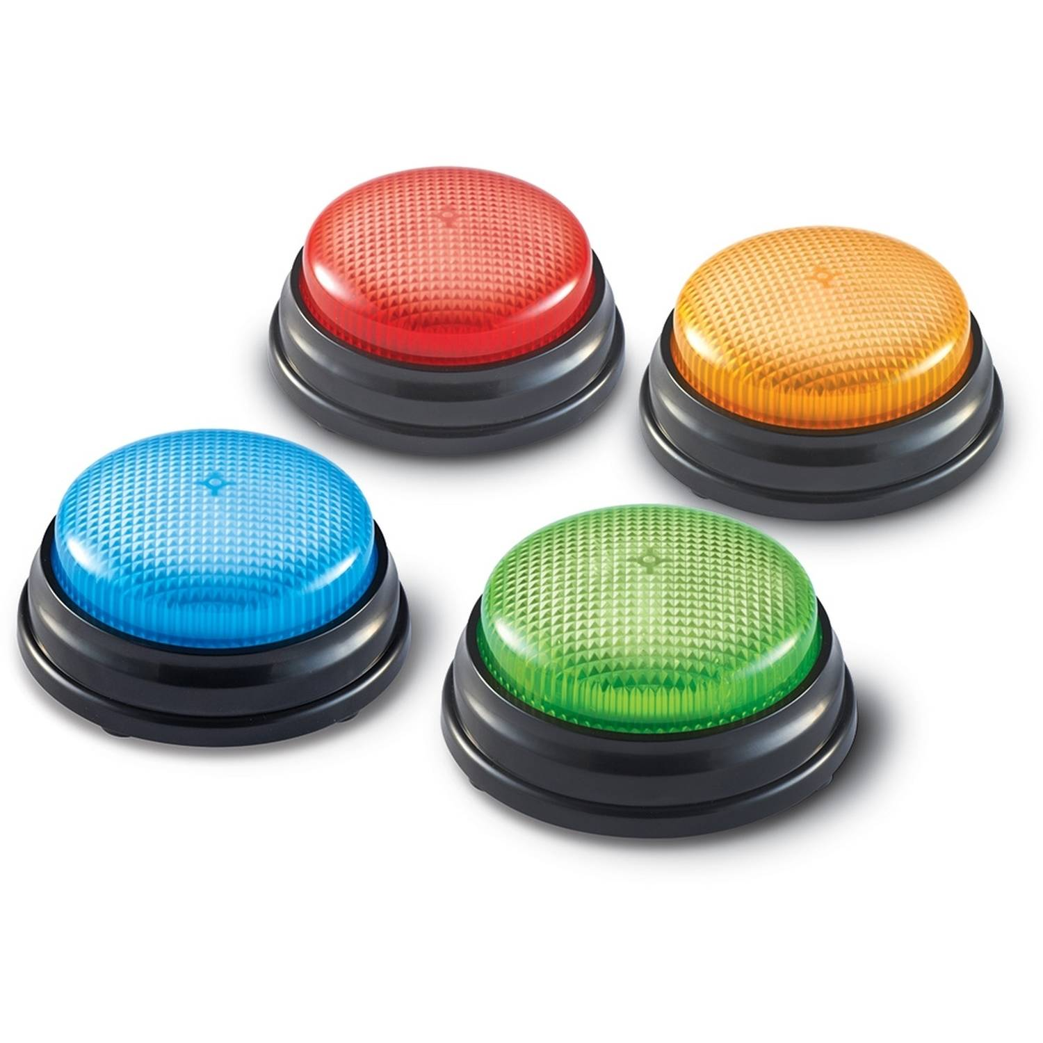 Learning Resources Lights and Sounds Answer Buzzers, Set of 4