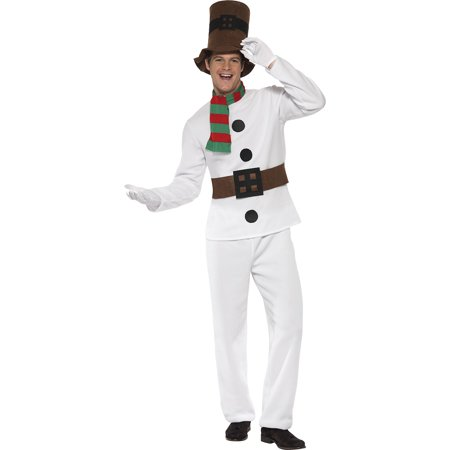 Mens Let It Snow Mr Snowman Costume, Mens Snowman Holiday Costume (Huntsman Snow White Costume)
