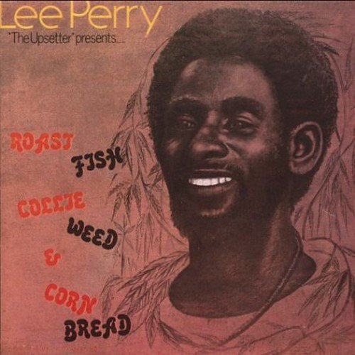 """Personnel: Lee Perry (vocals, percussion); Geoffrey Chung, Earl Smith, Billy Boy (guitar); Winston Wright (organ), Boris Gardener (bass); Mickey Boo, Sly  Dunbar (drums); Scully (percussion); Full Experience (background vocals).<BR>Recorded at Black Ark Studio, Kingston, Jamaica.<BR>Originally released in 1976 only in his native Jamaica on Lee """"Scratch"""" Perry's own Upsetter label, ROAST FISH, COLLIE WEED AND CORNBREAD--""""Collie weed"""" being a local slang term for marijuana--is one of reggae's finest albums ever. Perry's only solo album of the mid-'70s, it features 10 of his best songs, kicking off with the jazz-inflected dread of the simmering """"Soul Fire"""" and ending half an hour later with the indescribably strange """"Roast Fish and Cornbread."""" Other highlights include the cautionary """"Throw Some Water In"""" and """"Evil Tongues."""" ROAST FISH, COLLIE WEED AND CORNBREAD was recorded in the final months of operation for Perry's Black Ark Studios and the master tapes are believed to have been lost after Perry abandoned the studio and the country in 1976. As a result, this CD is mastered from a vinyl copy of the album. Regardless, it is essential listening."""