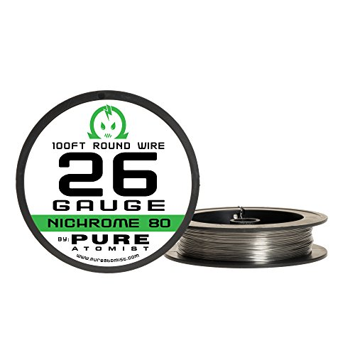 100ft - Nichrome 80 26 Gauge AWG Round Wire Roll - 0.40mm...