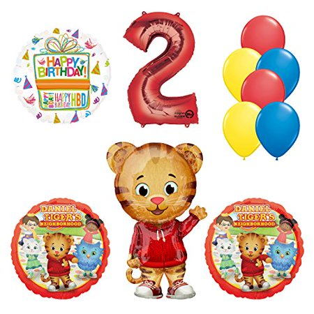 Daniel Tiger Neighborhood 2nd Birthday Party Supplies and Balloon Decorations