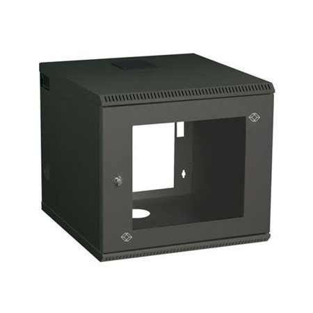 Square Mounting Holes - Wallmount Cabinet - 6U, M5 Square Holes, 22.05 x 23.62 in.