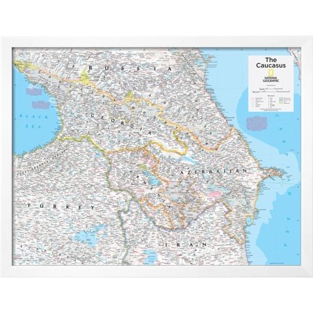 2014 the caucasus national geographic atlas of the world 10th 2014 the caucasus national geographic atlas of the world 10th edition framed poster wall art by national geographic maps gumiabroncs Images