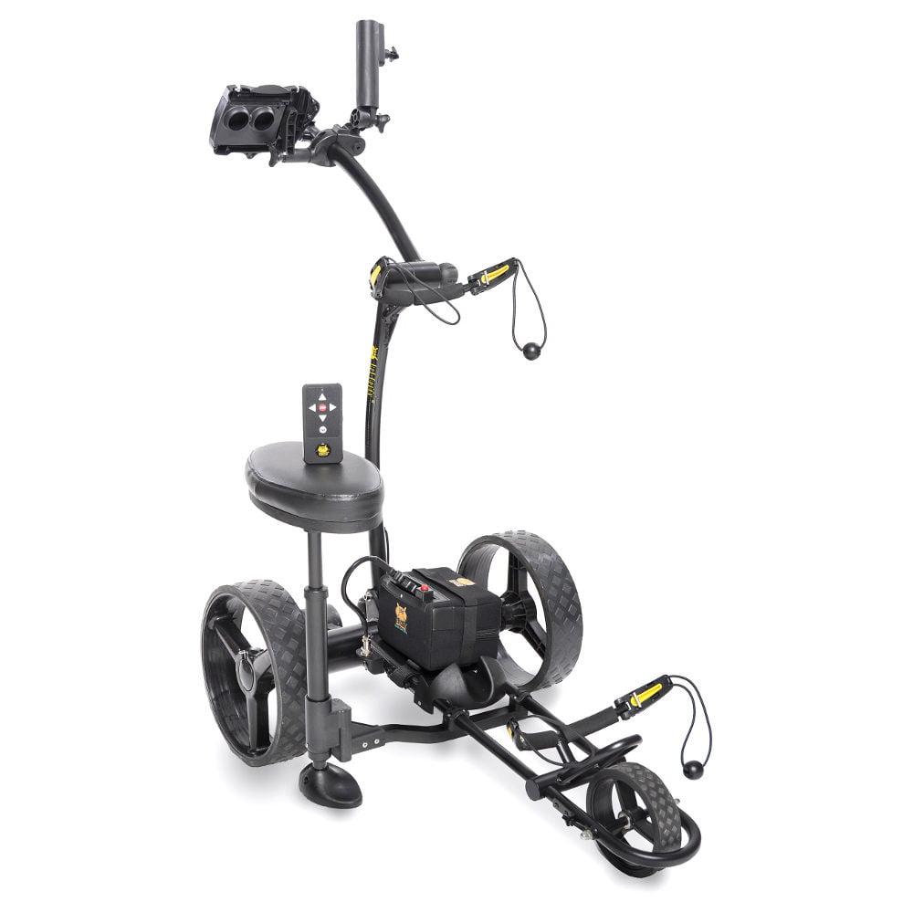Bat Caddy X4R Electric Golf Bag Cart Black w/ 20Ah Lithiu...