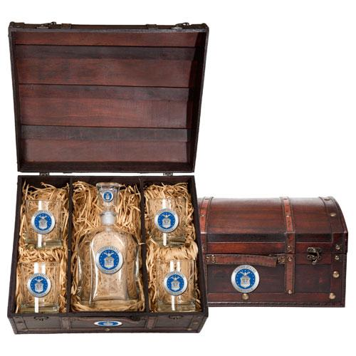 Air Force Capitol Decanter Chest Set