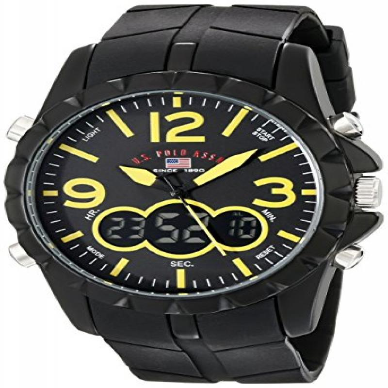 U.S. POLO ASSN Sport Men's US9237 Sport Watch with Black ...