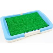 """Puppy Potty Trainer (Blue) Indoor Grass Training Patch - 3 Layers  - 18"""" x 13"""""""