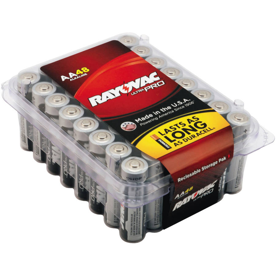 Rayovac Ultra Pro Alkaline Batteries, AA, 48pk