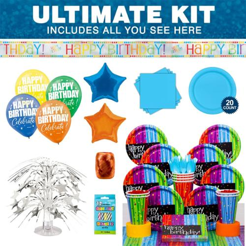 Birthday Celebrations Ultimate Kit - Party Supplies