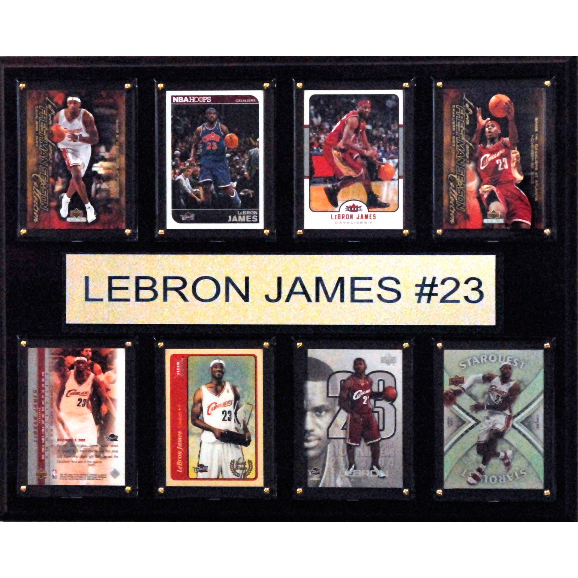 C&I Collectables NBA 12x15 LeBron James Cleveland Cavaliers 8-Card Plaque