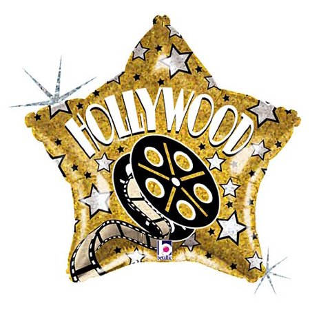 Golden Hollywood Balloon - Hollywood Balloons
