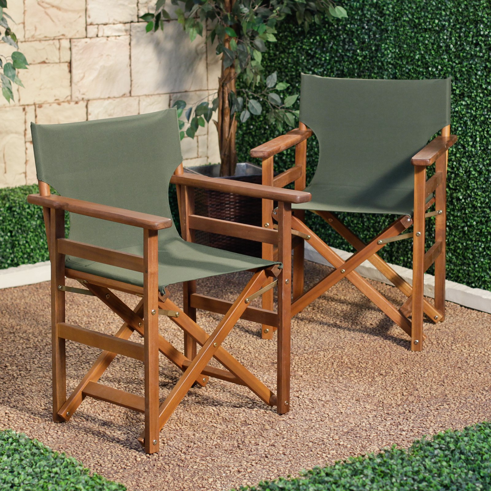 Charmant Coral Coast Outdoor Directors Chair   Set Of 2   Walmart.com