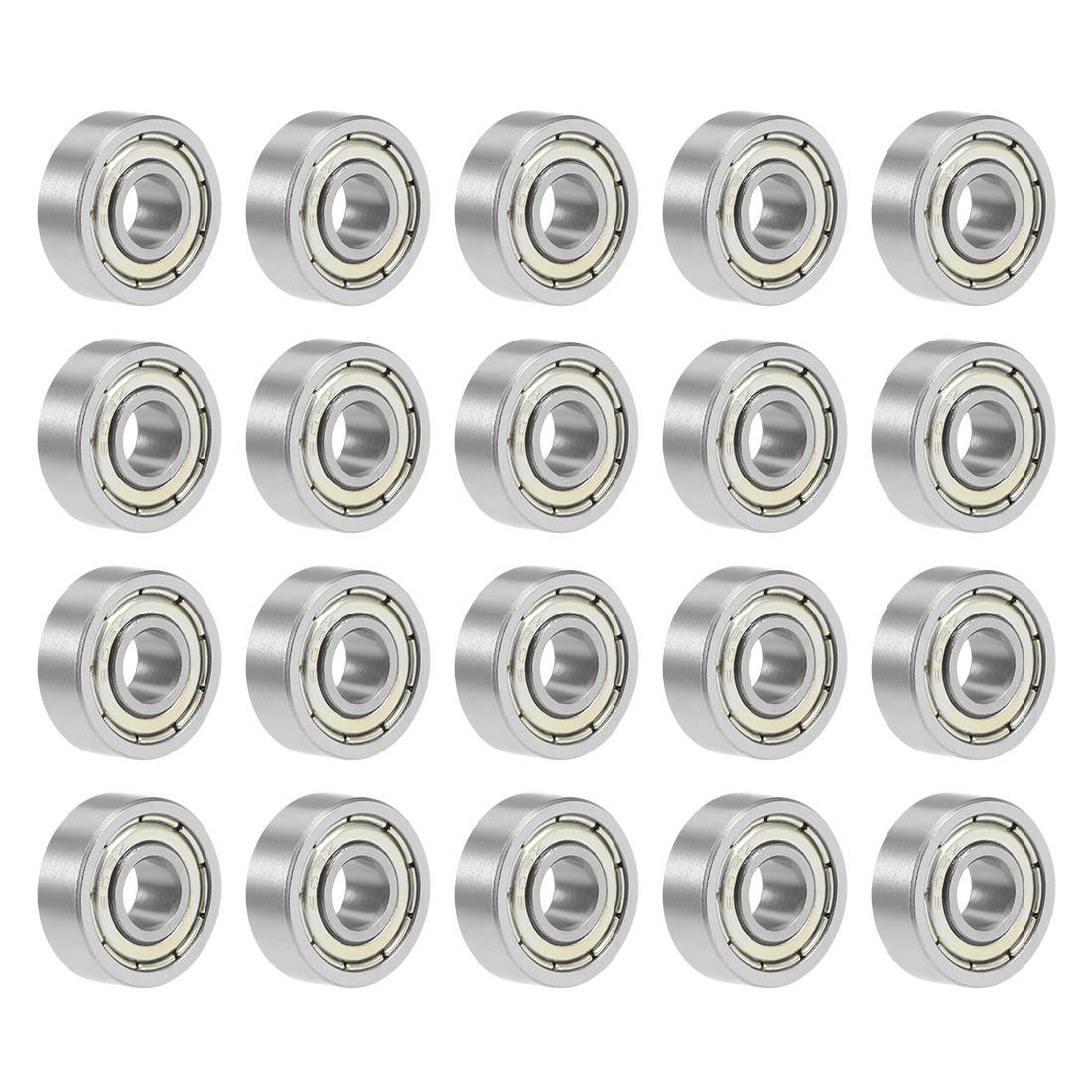 20pcs 689ZZ 9mmx17mmx5mm Double Shielded Miniature Deep Groove Ball Bearing
