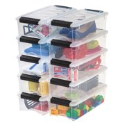 IRIS USA 5 Qt Clear Plastic Storage Box with Latches, 10 Pack