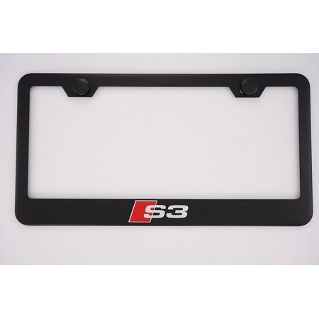 Audi S3 Black License Plate Frame with Caps, By PRC - Walmart.com