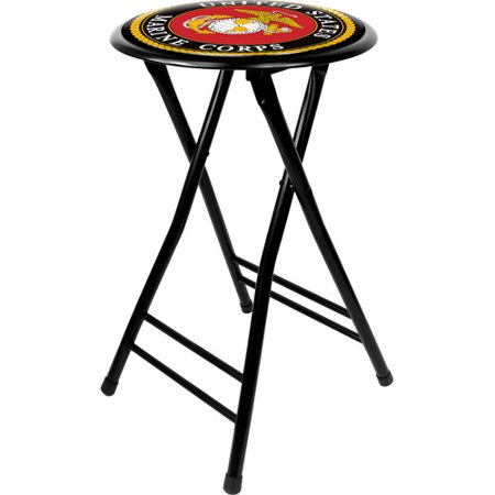 "Trademark Global United States Marine Corps 24"" Cushioned Folding Stool"