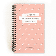 Personalized Back To School 5 x 8 Notebook - Flamingo