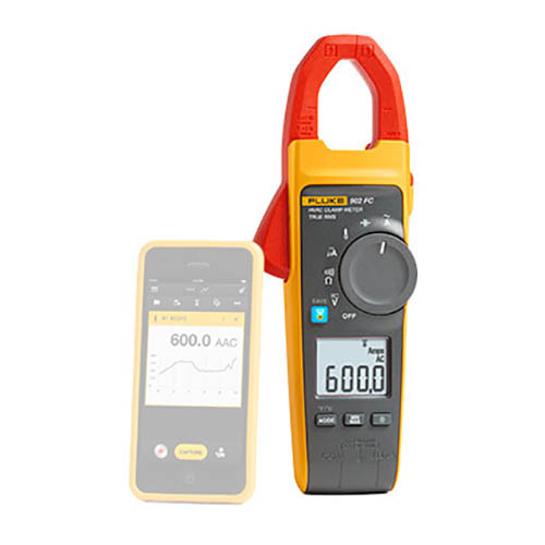 Fluke 902 FC 600V AC/DC TRMS HVAC Clamp Meter with Fluke Connect