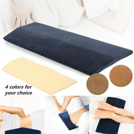 Moaere Ergonomic Lumbar Pillow 100% Pure Memory Foam Back Cushion Lumbar Support for Lower Back (Pillow Under Back For Lower Back Pain)