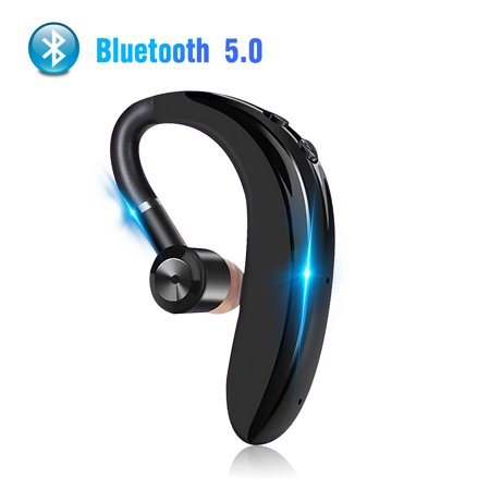 Bluetooth Headset, TSV Wireless Earpiece Bluetooth 5.0 for Cell Phones, In-Ear Piece Hands Free Earbud Headphone w/ Mic, Noise Cancelling for Driving, Compatible w/ iPhone 11/11 Pro Samsung Cellphone Hands Free Portable Headphones