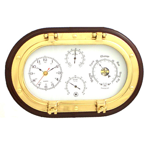 Breakwater Bay Dominguez 12'' Porthole Wall Clock