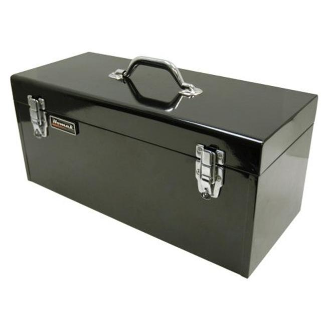 Homak BK00120920 20 Inch Black High Tool Box with Black Metal Tray