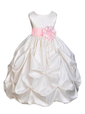 75454a74a1f Product Image Ekidsbridal Taffeta Bubble Pick-up Ivory Flower Girl Dress  Weddings Summer Easter Dress Special Occasions