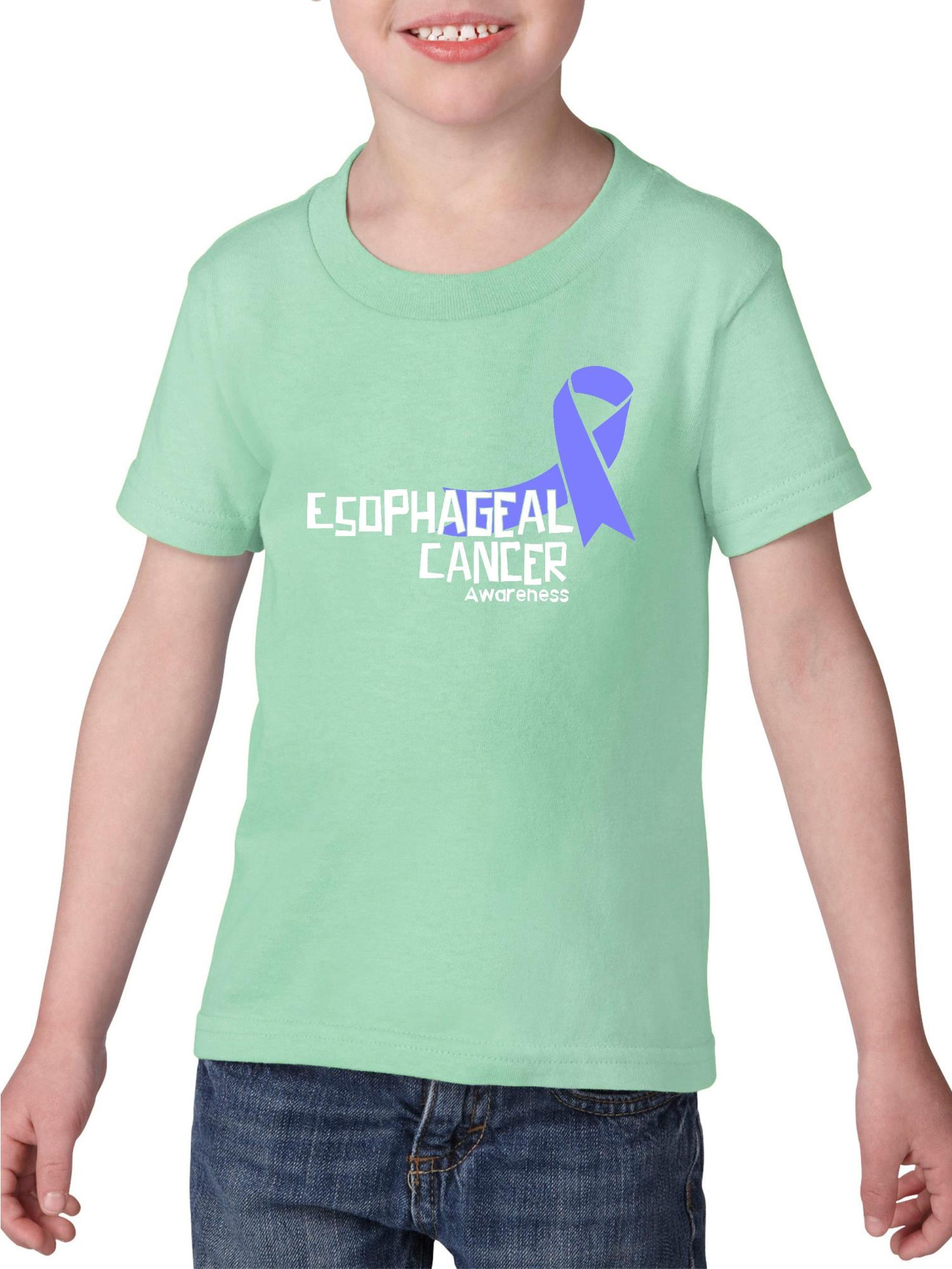 Esophageal Cancer Awareness Heavy Cotton Toddler Kids T-Shirt Tee Clothing