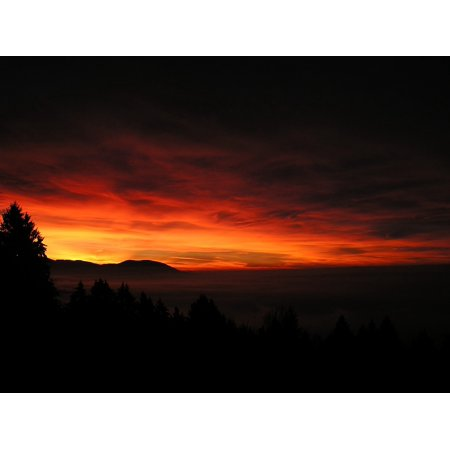 canvas print glow yellow natural spectacle sky sunrise red stretched canvas 10 x (Hang Ten Spectacles)