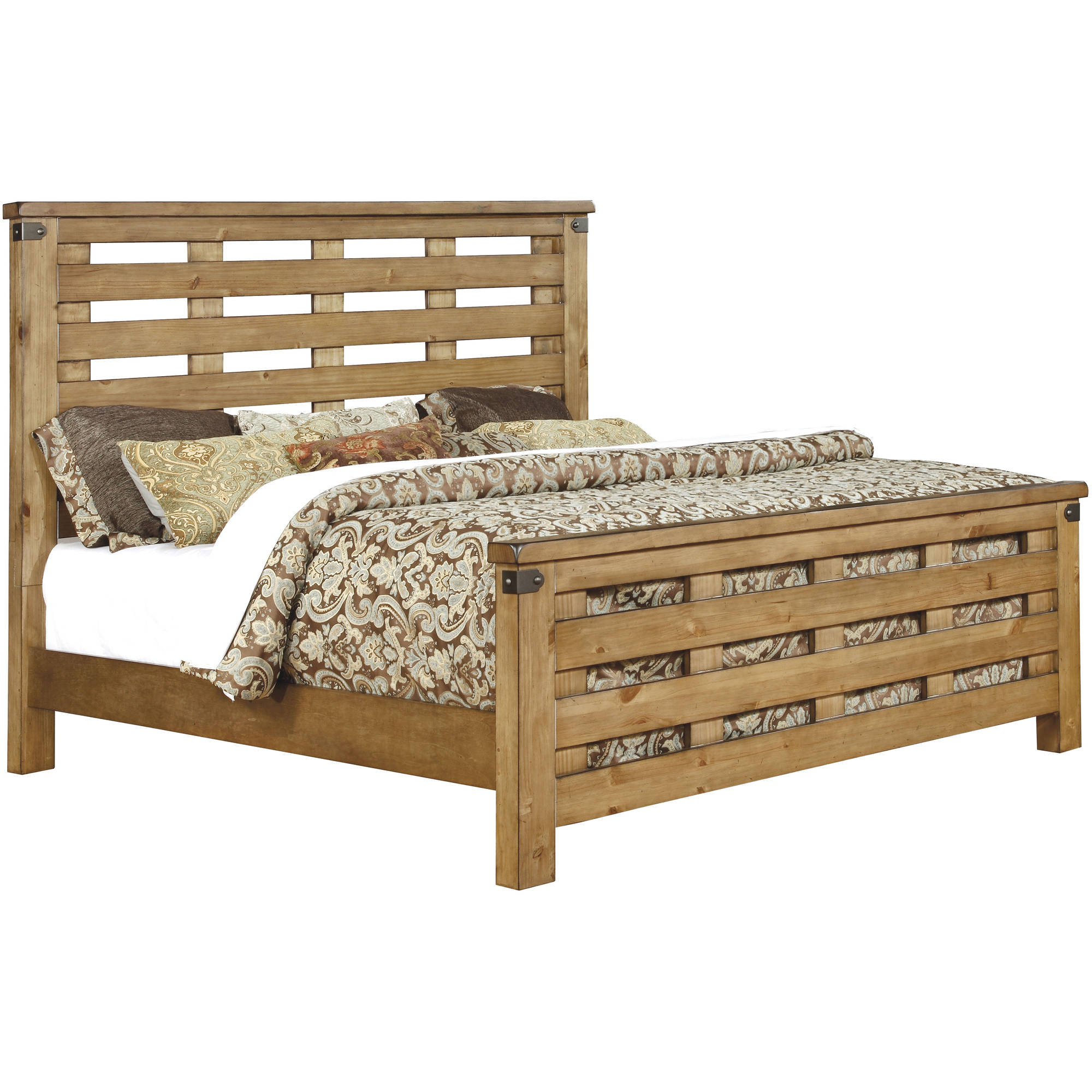 Furniture of America Moira I Cottage California King Bed, Weathered Elm