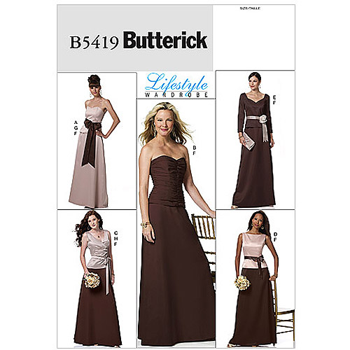 Butterick Pattern Misses' Top, Skirt and Sash, BB (8, 10, 12, 14)