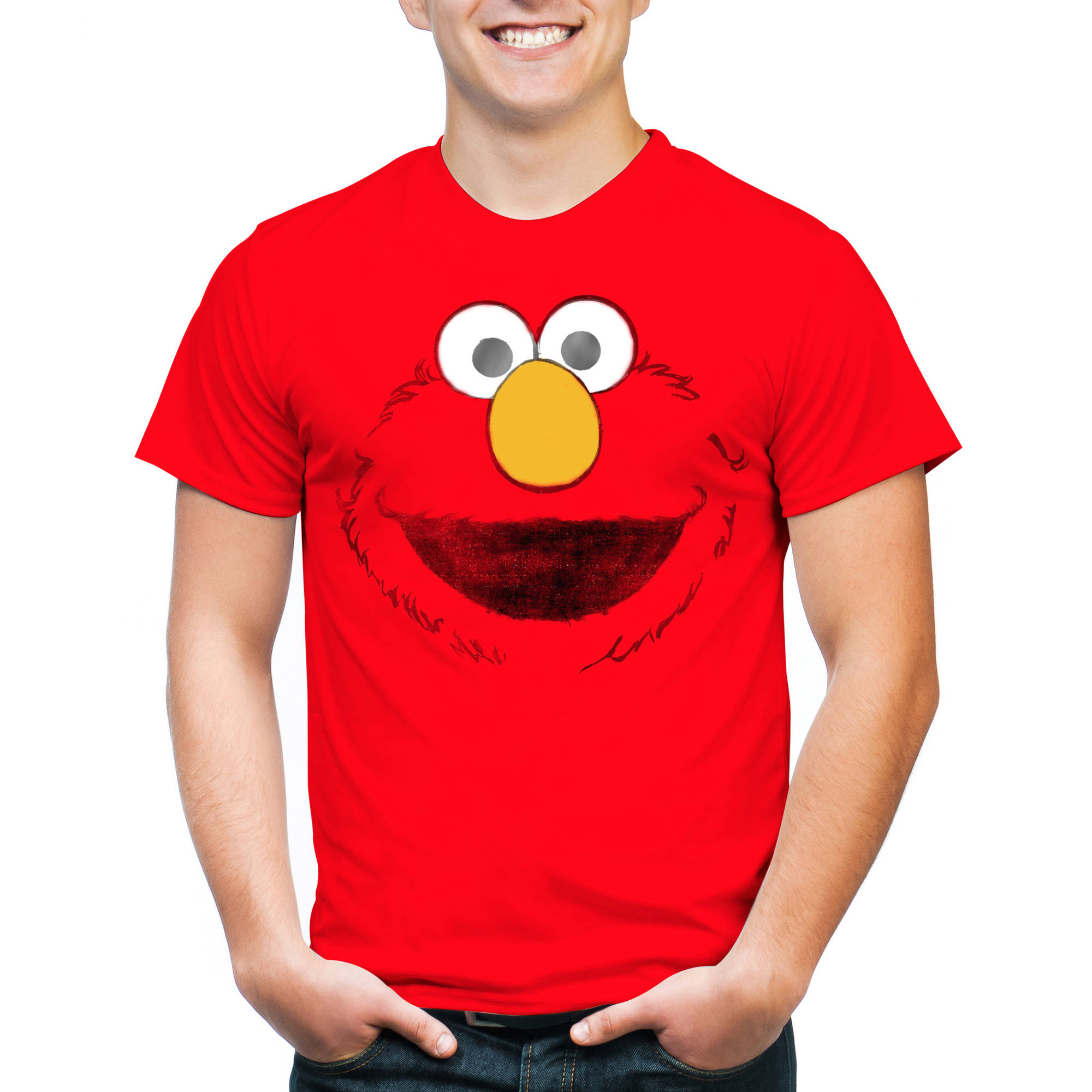 Elmo Big Face Big Men's Graphic Tee