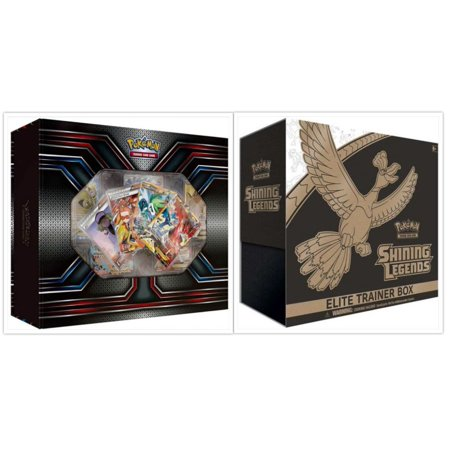 Pokemon TCG The Best of XY Premium Trainer Collection Box and Shining Legends Elite Trainer Box Card Game Bundle, 1 of