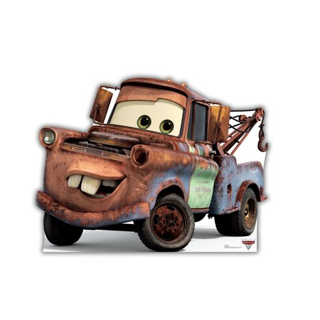 Disney Pixar Cars Mater Life Size Cutout Stand Large Cardboard Cutout Party Prop Decor Birthday party Supplies, Disney Birthday decoration Size: 45