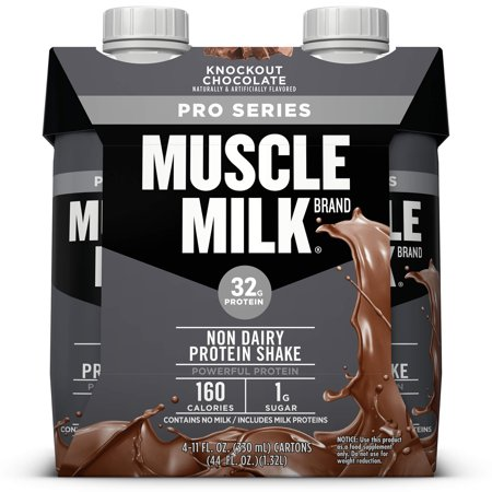 Muscle Milk Pro Series Non-Dairy Protein Shake, Knockout Chocolate, 32g Protein, Ready to Drink, 11 fl. oz., (Steroids For Losing Weight And Gaining Muscle)