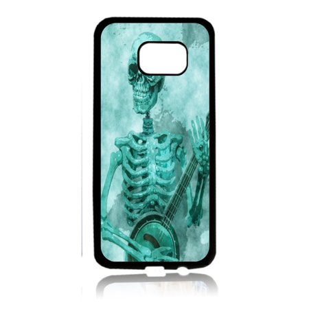 Skeleton Playing the Banjo Black Rubber Thin Case Cover for the Samsung Galaxy s8 - Samsung Galaxy s8 Accessories - s8 Case](Banjo Playing Skeleton)