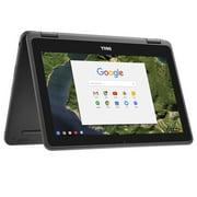 "Dell 3189 Convertible Chromebook 11.6"" HD IPS Touchscreen, Intel Celeron N3060 1.6GHz, 4GB RAM, 64GB SSD Chrome OS- Black"