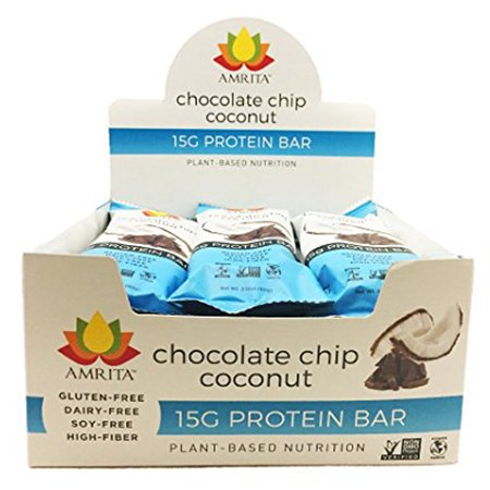 Paleo Chocolate Chip Coconut High Protein Bars - Gluten-Free, Dairy-Free, and Non-GMO Certified - Vegan, Raw, and Kosher - Kids Safe Snack - Clean Fuel for Athletes - Pack of 12 by